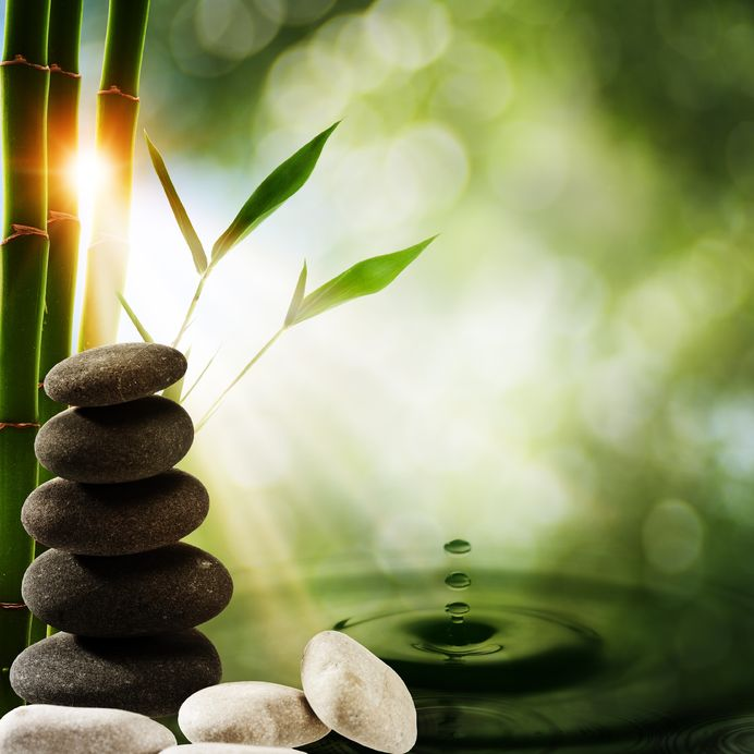 14835761 - oriental eco backgrounds with bamboo and water splash